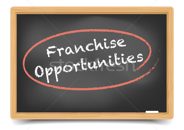 Blackboard Franchise Opportunities Stock photo © unkreatives