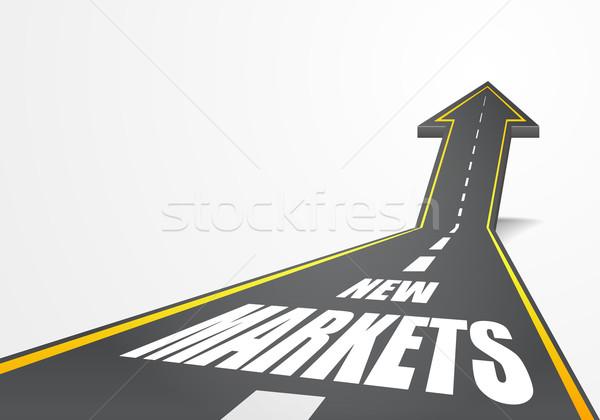 road to New Markets Stock photo © unkreatives