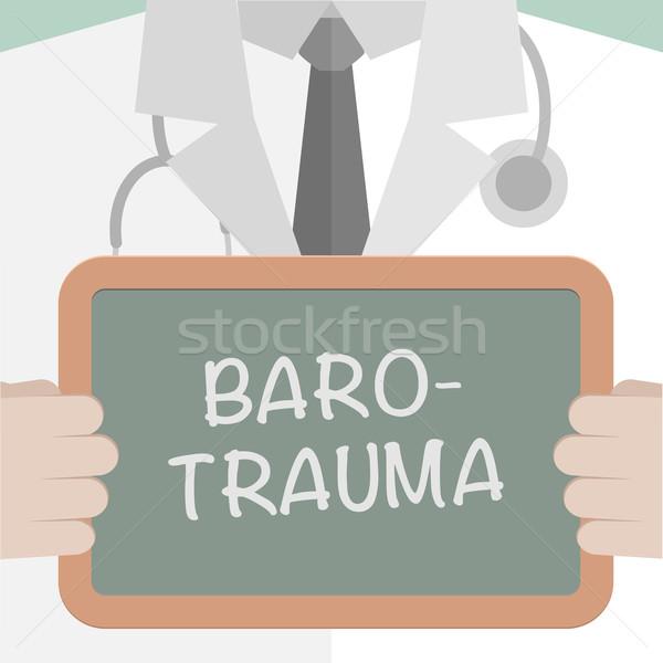 Medical Board Barotrauma Stock photo © unkreatives