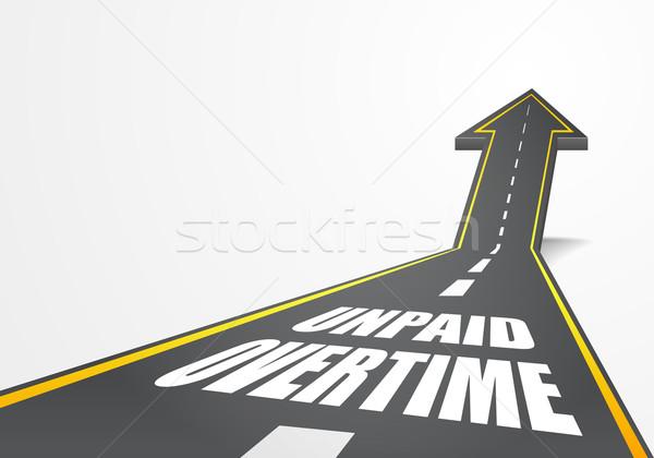 Estrada horas extras detalhado ilustração rodovia para cima Foto stock © unkreatives