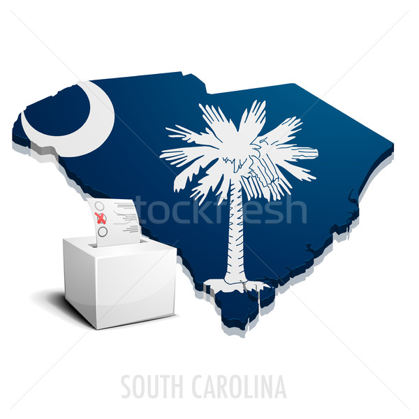 Ballotbox Map South Carolina Stock photo © unkreatives