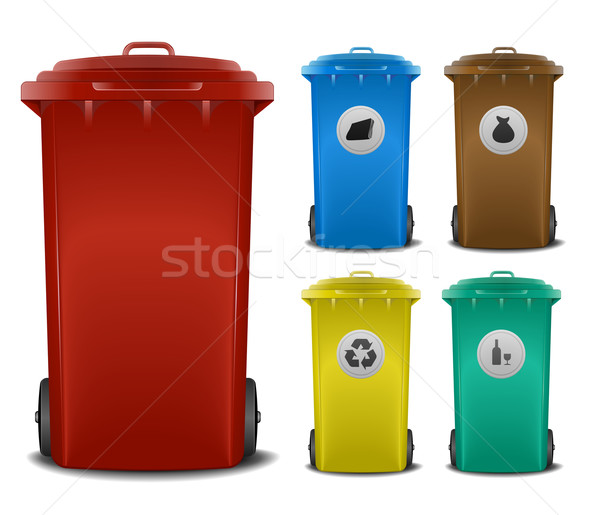 recycling bins Stock photo © unkreatives