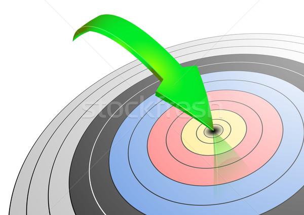 アーチェリー ターゲット 実例 緑 矢印 眼 ストックフォト © unkreatives