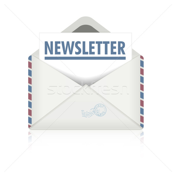 Boletim informativo detalhado ilustração abrir envelope eps10 Foto stock © unkreatives