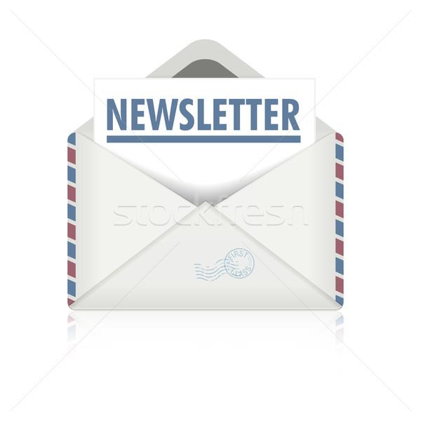 Bulletin détaillée illustration ouvrir enveloppe eps10 Photo stock © unkreatives