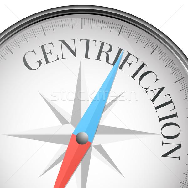 compass Gentrification Stock photo © unkreatives
