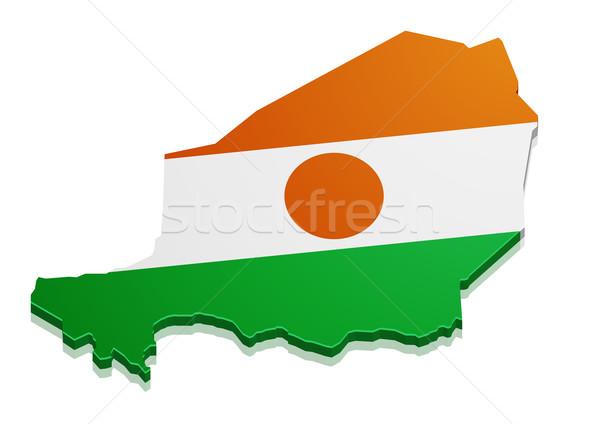 Mappa Niger dettagliato illustrazione bandiera eps10 Foto d'archivio © unkreatives