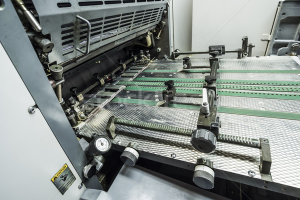 Impressão máquina moderno trabalhar tecnologia ferramentas Foto stock © unkreatives