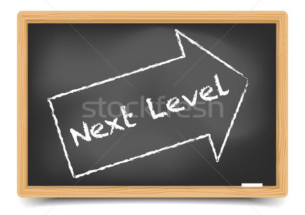 Blackboard Next Level Stock photo © unkreatives