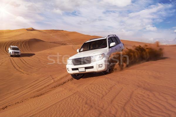 Deserto safari sabbia natura viaggio Foto d'archivio © unkreatives