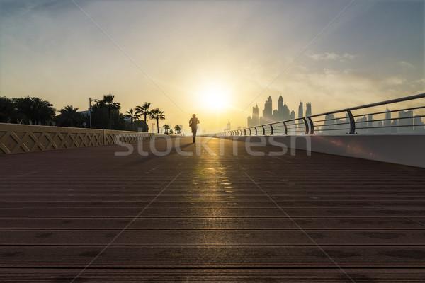 Correr manana basculador vacío ejecutando sol Foto stock © unkreatives