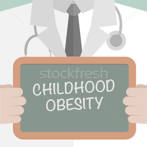 Bord Kindheit Fettleibigkeit Illustration Arzt Stock foto © unkreatives