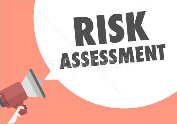 Megaphone Risk Assessment Stock photo © unkreatives