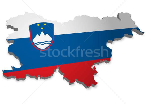 Slovenia 3D contorno bandiera design mondo Foto d'archivio © unkreatives