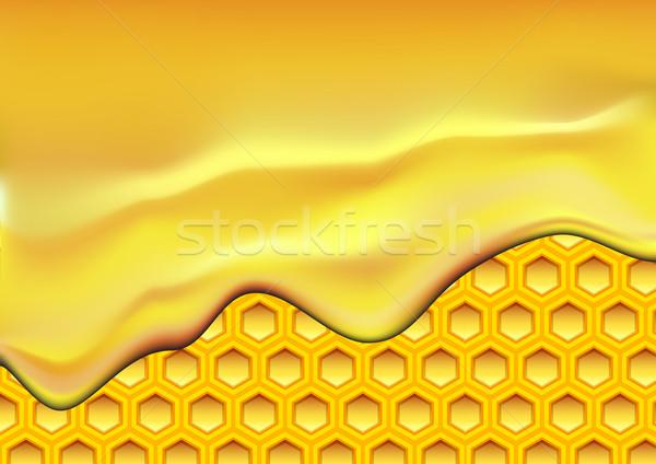 Illustrazione miele a nido d'ape texture casa Foto d'archivio © unkreatives