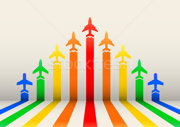 boost airplanes Stock photo © unkreatives