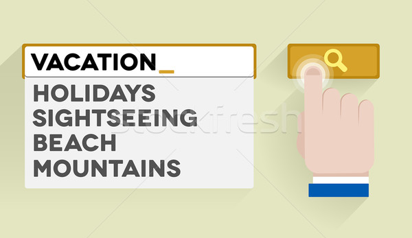 search vacation Stock photo © unkreatives