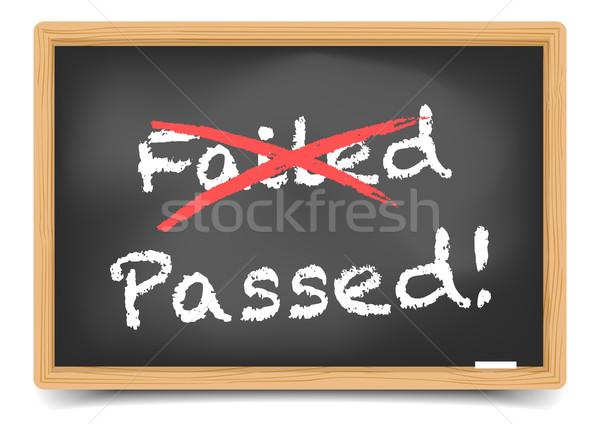Blackboard Passed Stock photo © unkreatives