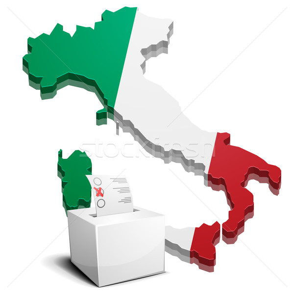 ballot box Italy Stock photo © unkreatives