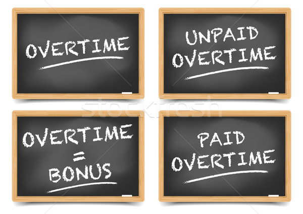 Blackboard Overtime Concepts Stock photo © unkreatives