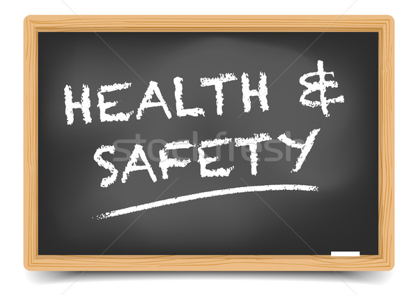 Blackboard Health Safety Stock photo © unkreatives