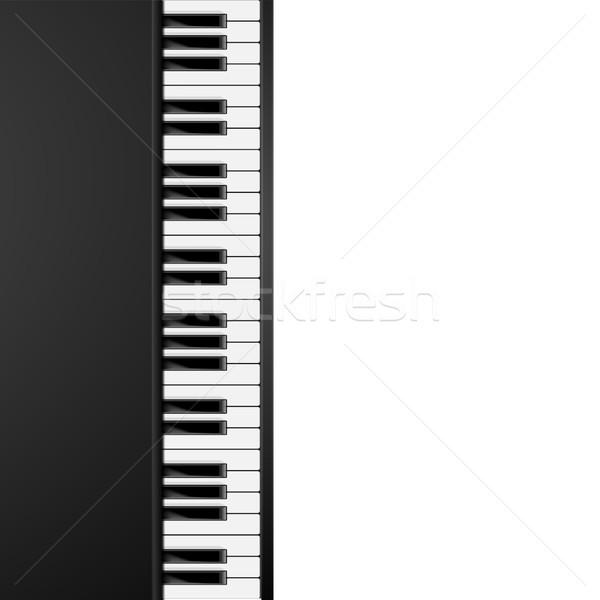 Teclas de piano detallado ilustración vertical eps10 vector Foto stock © unkreatives