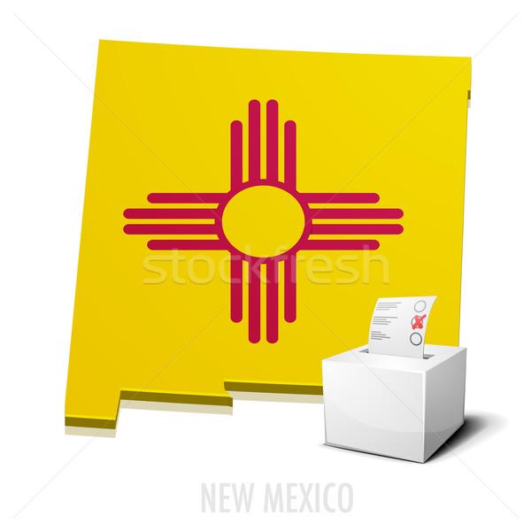 Kaart New Mexico gedetailleerd illustratie eps10 vector Stockfoto © unkreatives