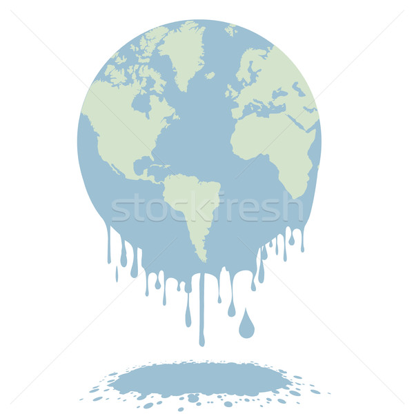 melting earth globe Stock photo © unkreatives