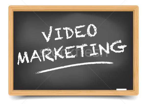 Blackboard Video Marketing Stock photo © unkreatives