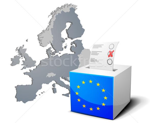 Stemmen vak Europa gedetailleerd illustratie europese Stockfoto © unkreatives