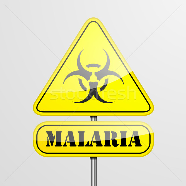 Yellow Malaria Warning Sign Stock photo © unkreatives