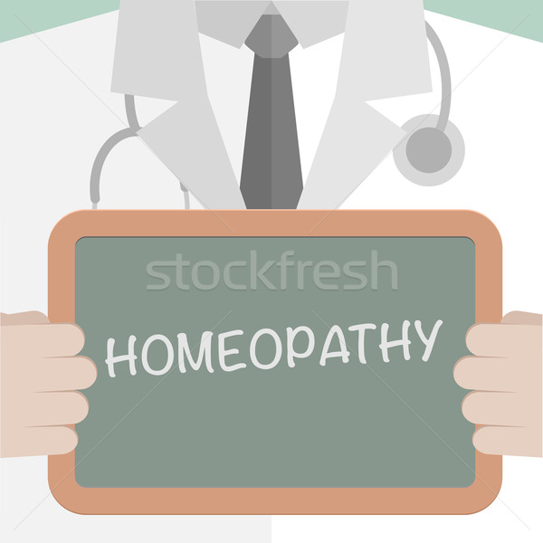 Homeopathie illustratie arts Blackboard Stockfoto © unkreatives