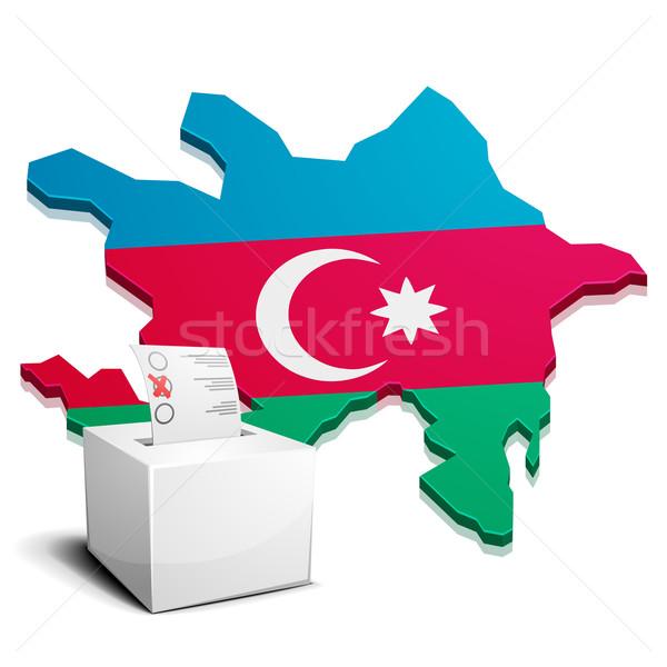 Azerbaiyán detallado ilustración mapa eps10 vector Foto stock © unkreatives