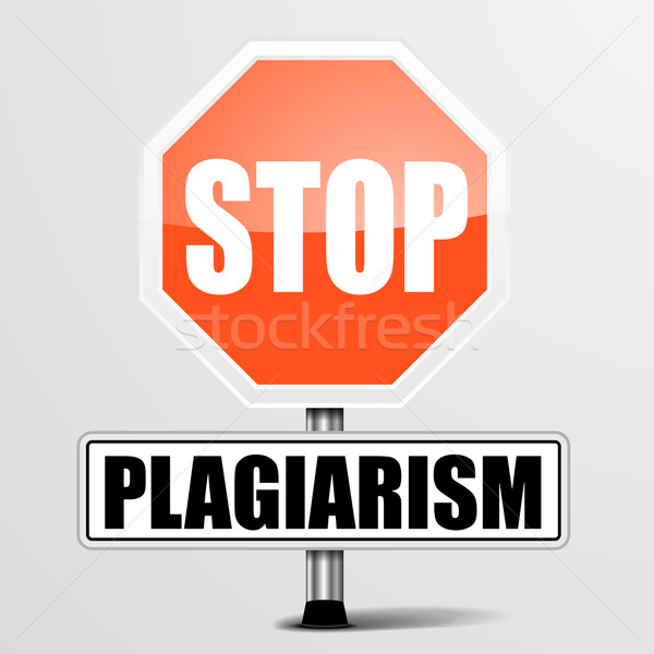 Stop Plagiarism Stock photo © unkreatives