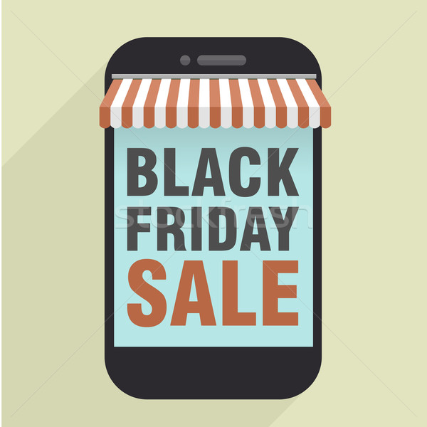 Telefon black friday minimalist ilustrare telefon mobil stoca Imagine de stoc © unkreatives