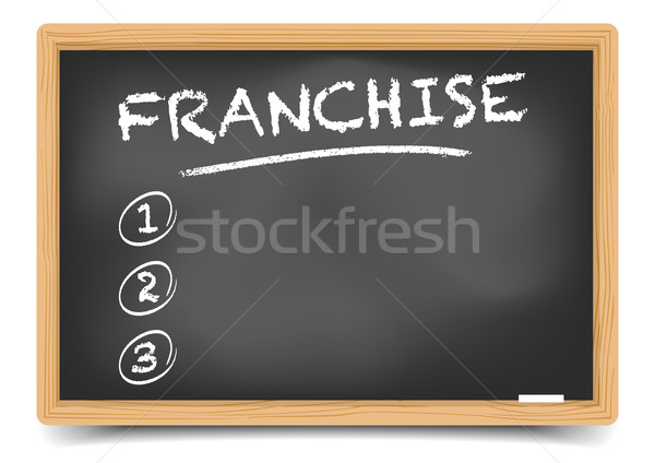 Blackboard List Franchise Stock photo © unkreatives