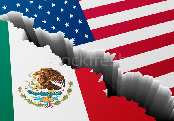 Diep spleet Mexico USA gedetailleerd illustratie Stockfoto © unkreatives