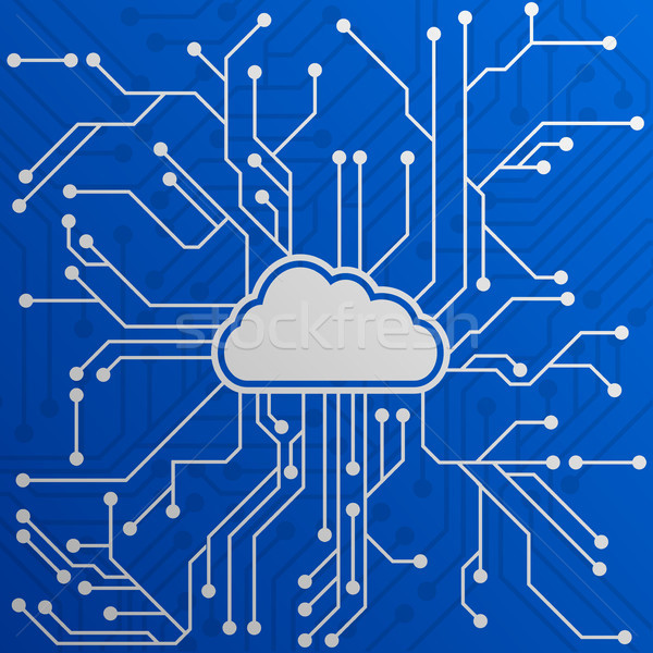 Cloud Computing Circuit Stock photo © unkreatives