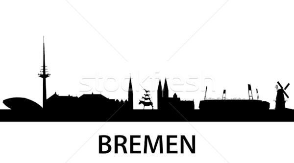 Skyline Bremen Stock photo © unkreatives