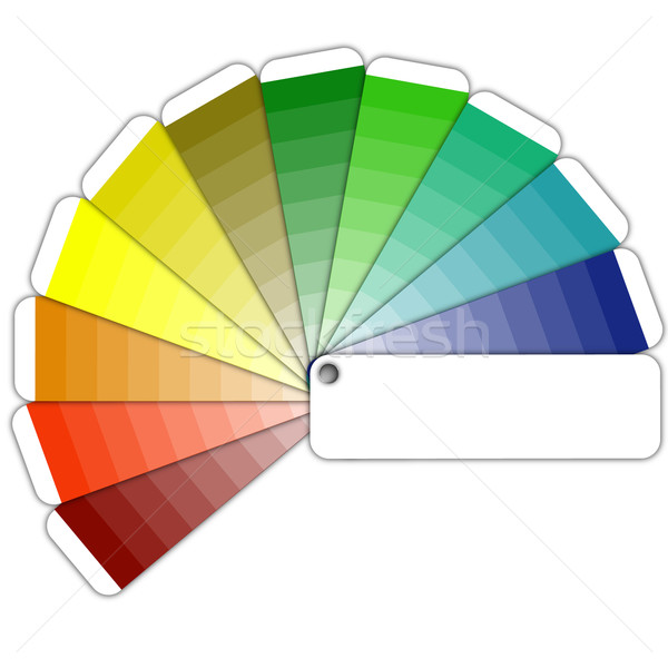 color guide with shades Stock photo © unkreatives