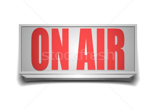Signo aire detallado ilustración blanco televisión Foto stock © unkreatives