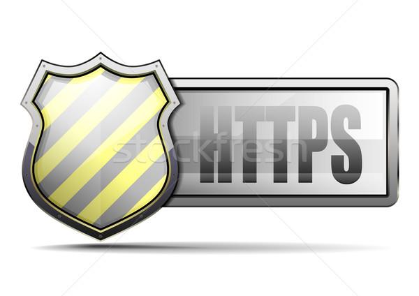 CoA HTTPS Stock photo © unkreatives