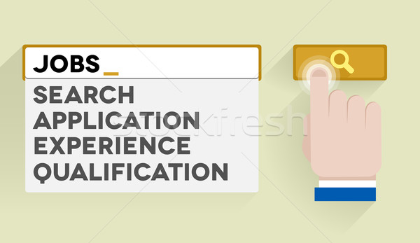 search jobs Stock photo © unkreatives