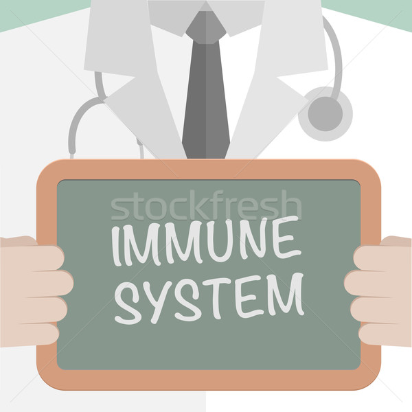 Immunitaire illustration médecin tableau noir Photo stock © unkreatives