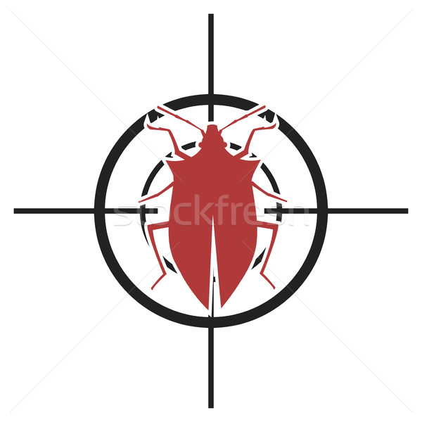 Illustration bug symbole eps10 vecteur Photo stock © unkreatives