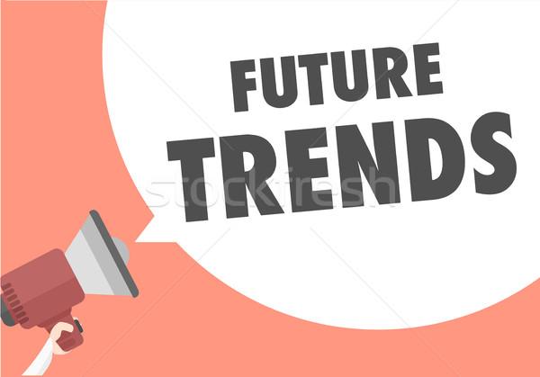 мегафон будущем Тенденции иллюстрация текста Сток-фото © unkreatives