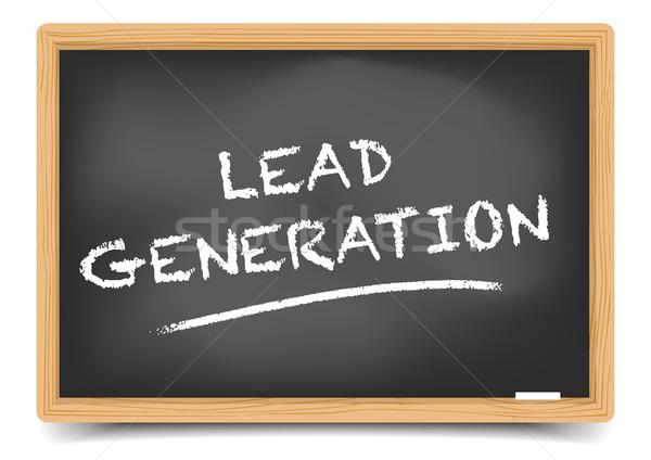 Blackboard Lead Generation Stock photo © unkreatives