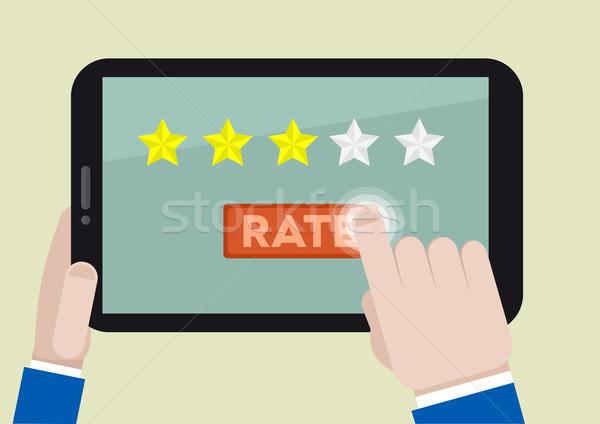 tablet rating three stars Stock photo © unkreatives