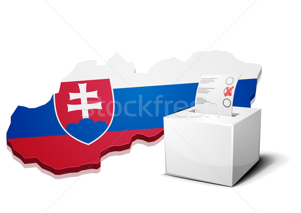Stock photo: ballotbox Slovakia