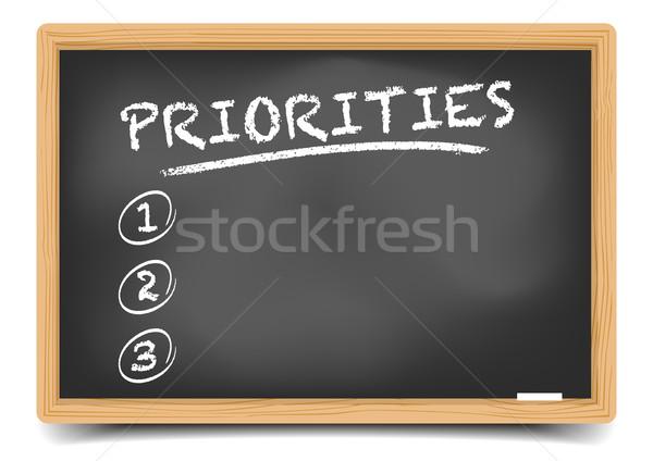 Lijst gedetailleerd illustratie Blackboard lege eps10 Stockfoto © unkreatives
